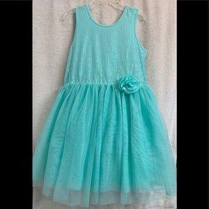 NWT Children's Place Mint Holiday Dress Girls 14XL